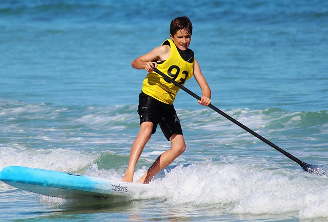Kid Stand Up Paddle boarding