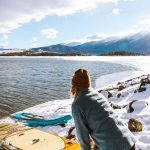 Winter stand Up Paddle Boarding