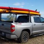 Truck with paddle boards in the back