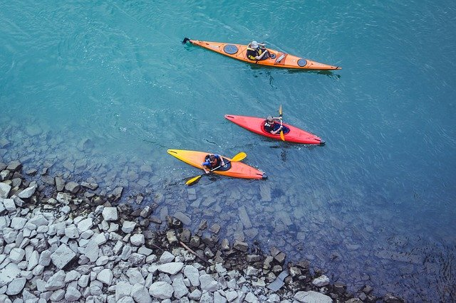 Picture of kayaks in a lake